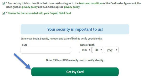 register to get card
