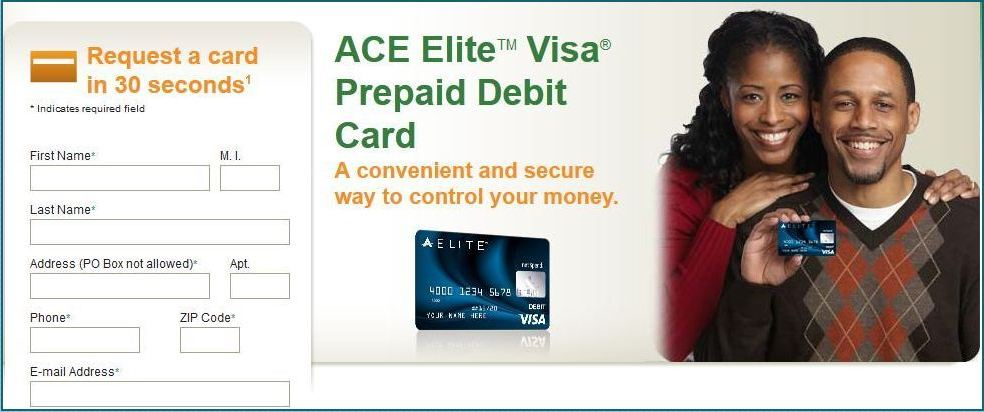 ace elite card login page