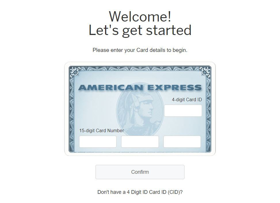 Create American Express login Account