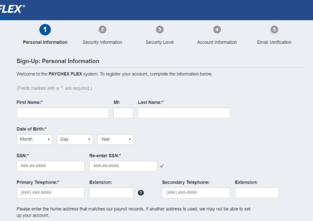 create set up paychex account