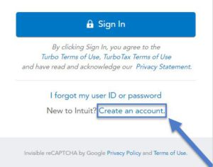 create turbotax account