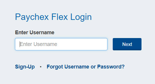 paychexflex.com sign up for new account
