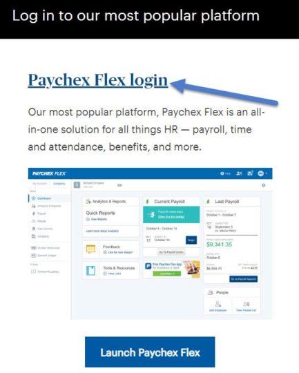 Paychex flex login