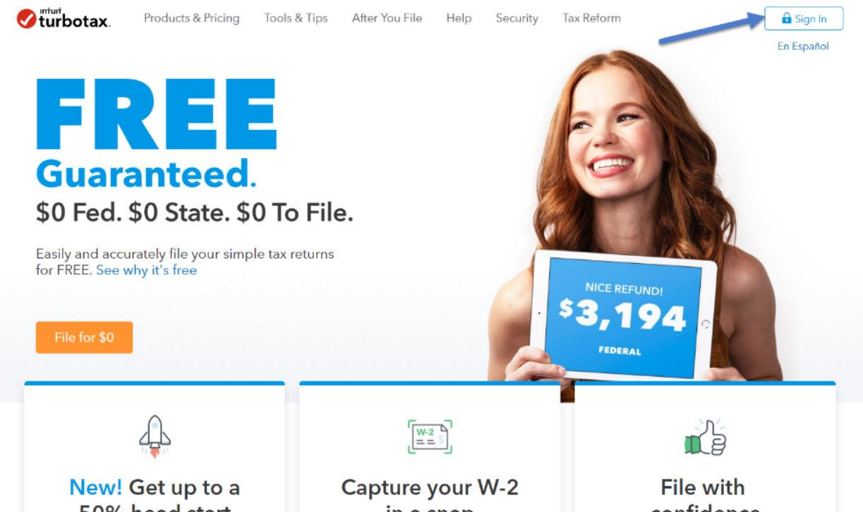 turbotax login to file tax