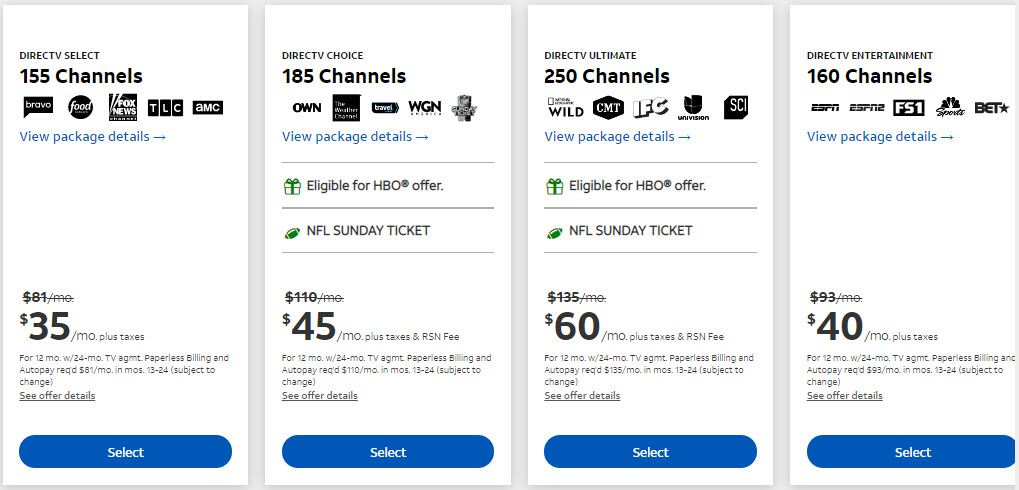 DirecTV Login using AT&T Account to Watch TV Online, Pay Bills