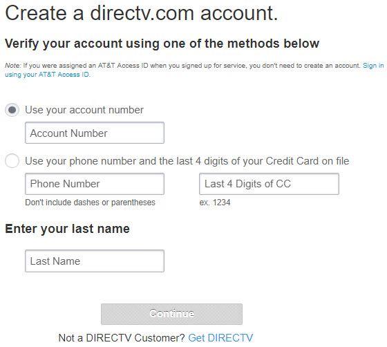 create att directv online
