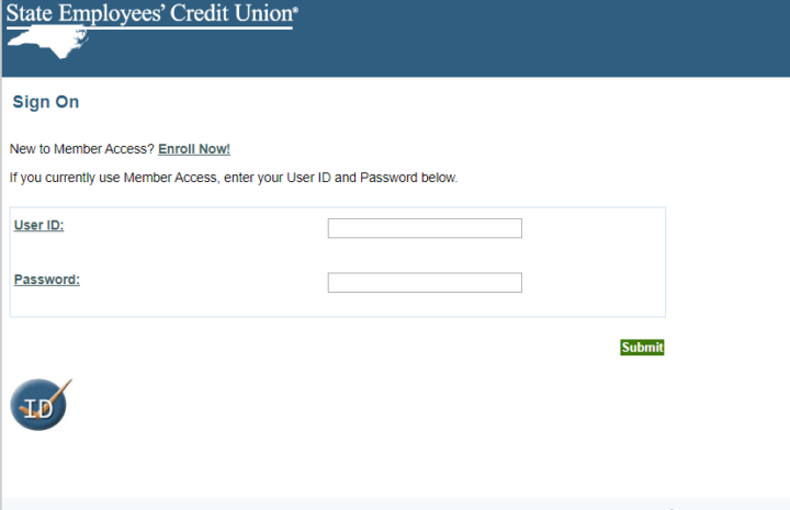 Input your NCSECU User ID and Password