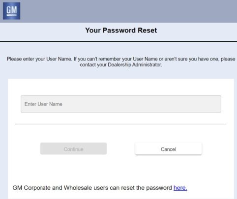 gm globalconnect employee forgot password guide