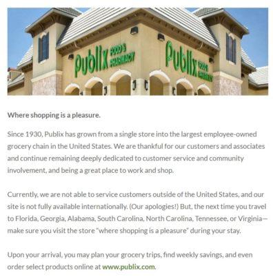publix oasis company website